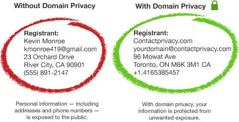 حفظ حریم خصوصی دامنه